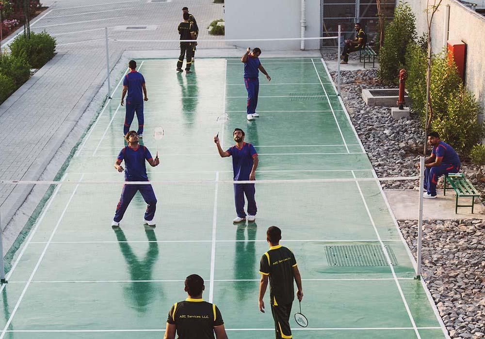 Circular Computing UAE Facilities - Playing Badminton
