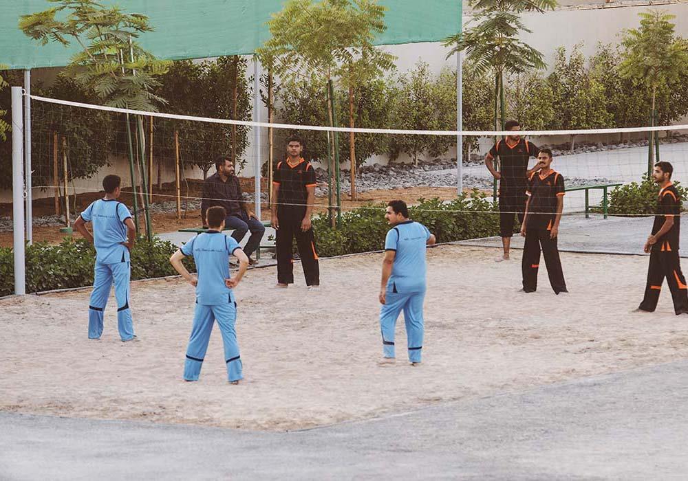 Circular Computing UAE Facilities - Playing Volleyball