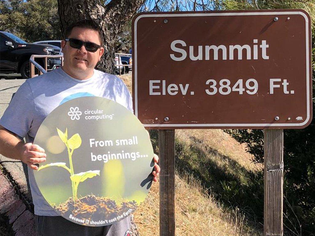 SJ at summit Mount Diablo