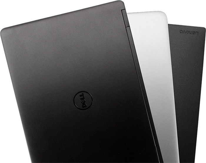 Dell, HP and Lenovo brand remanufactured laptops